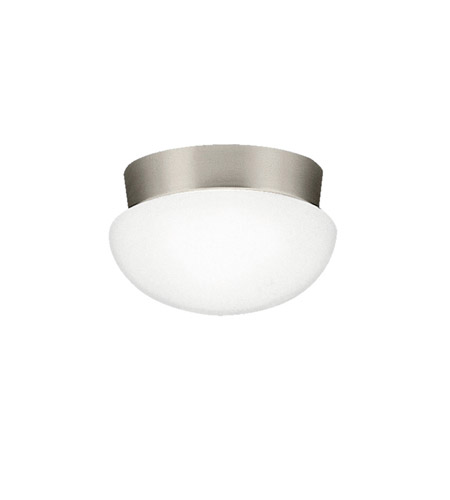 Kichler Lighting Signature 1 Light Fluorescent Flush Mount in Brushed Nickel 8101NIFL photo