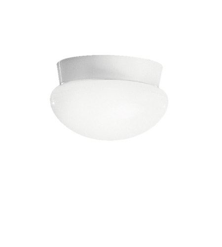 Kichler Lighting Signature 1 Light Fluorescent Flush Mount in White 8101WHFL photo