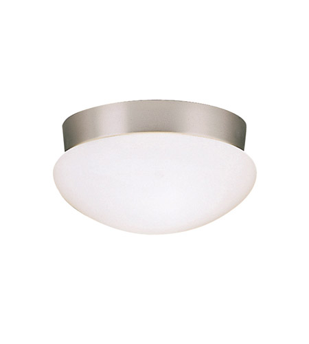 Kichler 8102NI Ceiling Space 2 Light 9 Inch Brushed Nickel Flush Mount  Ceiling Light In Standard