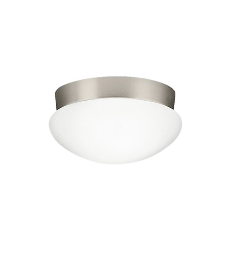 Kichler 8102NIFL Signature 2 Light 9 inch Brushed Nickel Flush Mount Ceiling Light in Fluorescent photo