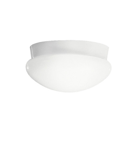 Kichler Lighting Signature 2 Light Fluorescent Flush Mount in White 8102WHFL