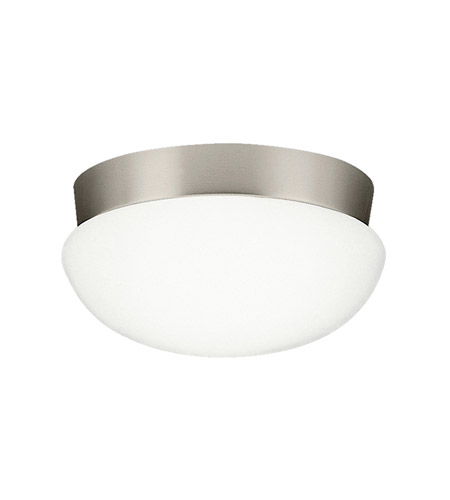 Kichler Lighting Signature 3 Light Fluorescent Flush Mount in Brushed Nickel 8103NIFL photo