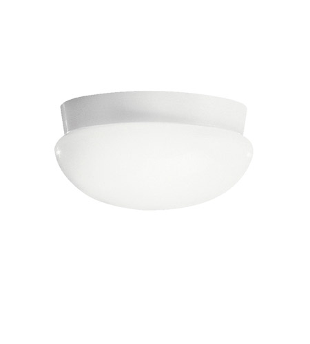Kichler Lighting Signature 3 Light Fluorescent Flush Mount in White 8103WHFL