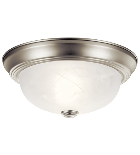 Kichler Lighting Signature 2 Light Flush Mount in Brushed Nickel 8108NI photo