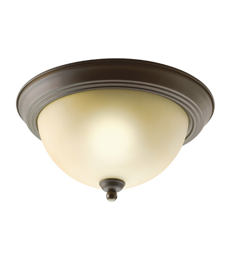 Kichler 8108OZ Signature 2 Light 11 inch Olde Bronze Flush Mount Ceiling Light photo