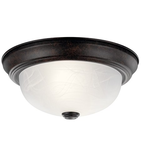 Kichler Lighting Signature 2 Light Flush Mount in Tannery Bronze 8108TZ photo