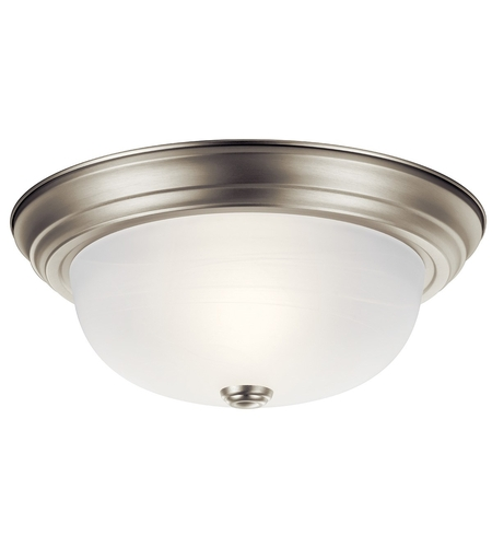 Kichler 8109NI Signature 2 Light 13 inch Brushed Nickel Flush Mount Ceiling Light photo