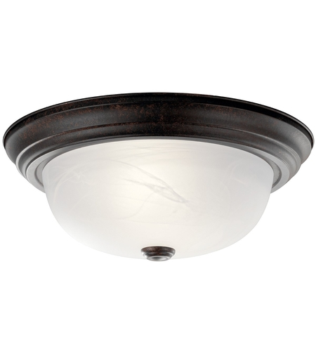 Kichler 8109TZ Signature 2 Light 13 inch Tannery Bronze Flush Mount Ceiling Light photo