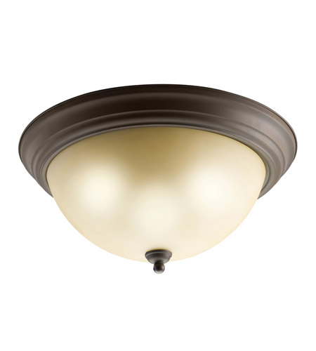 Kichler 8110OZ Signature 3 Light 15 inch Olde Bronze Flush Mount Ceiling Light photo