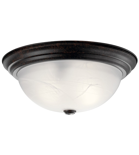 Kichler 8110TZ Signature 3 Light 15 inch Tannery Bronze Flush Mount Ceiling Light photo