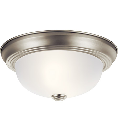 Kichler 8111NI Signature 2 Light 11 inch Brushed Nickel Flush Mount Ceiling Light photo