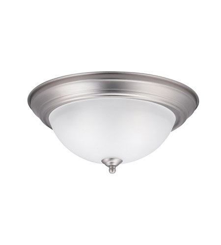 Kichler Lighting Signature 2 Light Flush Mount in Brushed Nickel 8112NI photo