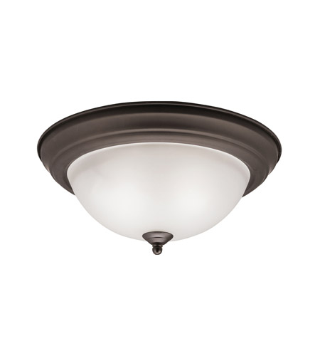 Kichler 8112OZ Signature 2 Light 13 inch Olde Bronze Flush Mount Ceiling Light in Standard photo
