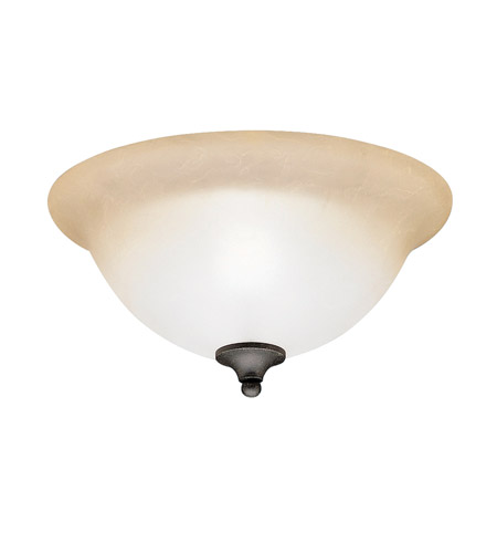 Kichler Lighting Pomeroy 2 Light Flush Mount in Distressed Black 8114DBK