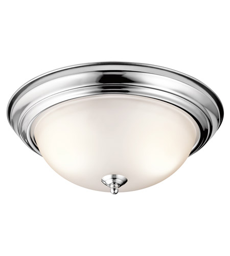 Kichler 8116CH Signature 3 Light 15 inch Chrome Flush Mount Ceiling Light photo