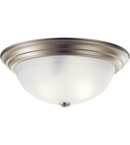 Kichler Lighting Signature 3 Light Flush Mount in Brushed Nickel 8116NI