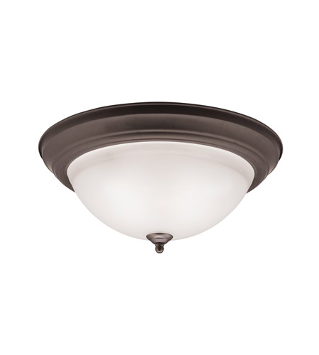 Kichler 8116OZ Signature 3 Light 15 inch Olde Bronze Flush Mount Ceiling Light in Standard photo