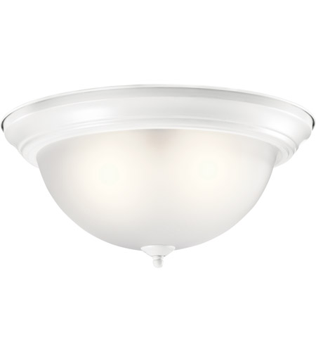 Kichler 8116WH Signature 3 Light 15 inch White Flush Mount Ceiling Light in Incandescent photo