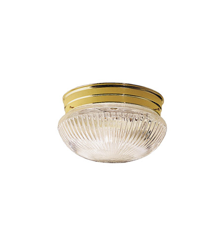 Kichler Lighting Ceiling Space 1 Light Flush Mount in Polished Brass 8122PB