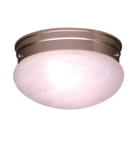 Kichler 8206NI Ceiling Space 1 Light 8 inch Brushed Nickel Flush Mount Ceiling Light photo