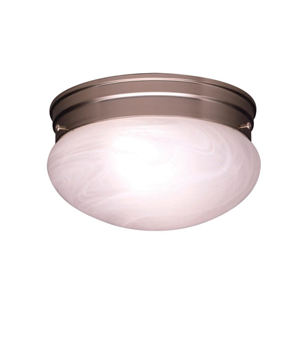Kichler 8209NI Ceiling Space 2 Light 9 inch Brushed Nickel Flush Mount Ceiling Light photo
