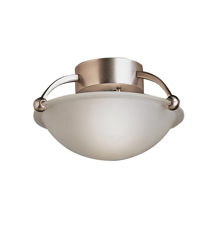Kichler Lighting Signature 1 Light Semi-Flush in Brushed Nickel 8404NI photo