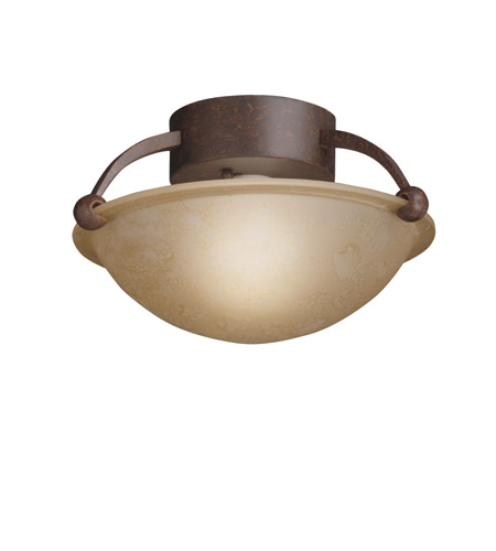 Kichler Lighting Signature 1 Light Semi-Flush in Tannery Bronze 8404TZ photo
