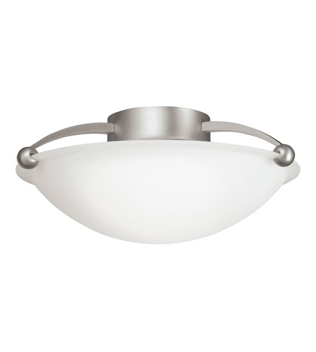 Kichler Lighting Signature 2 Light Semi-Flush in Brushed Nickel 8405NI photo