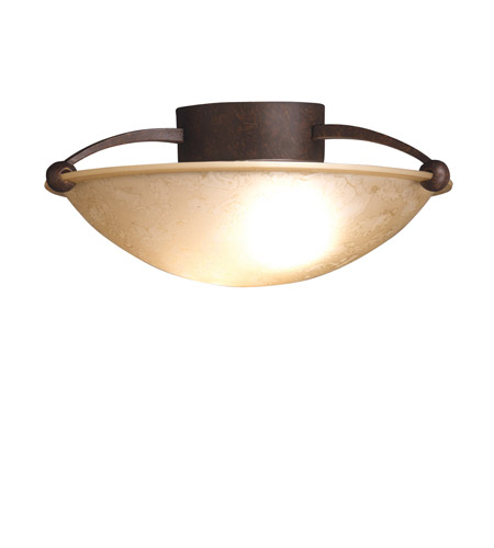 Kichler 8405TZ Signature 2 Light 15 inch Tannery Bronze Semi-Flush Ceiling Light photo