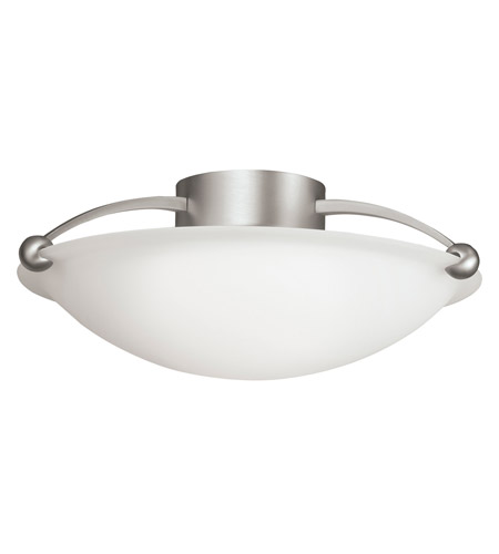 Kichler Lighting Signature 3 Light Semi-Flush in Brushed Nickel 8406NI