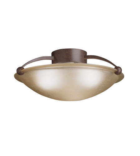 Kichler Lighting Signature 3 Light Semi-Flush in Tannery Bronze 8406TZ photo