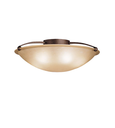 Kichler 8407TZ Signature 5 Light 25 inch Tannery Bronze Semi-Flush Ceiling Light photo