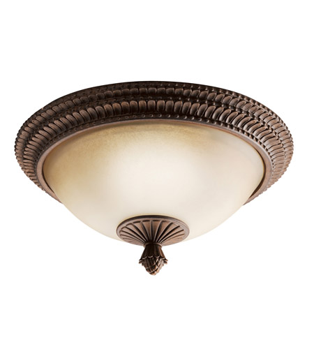 Kichler Lighting Larissa 2 Light Flush Mount in Tannery Bronze w/ Gold Accent 8414TZG photo