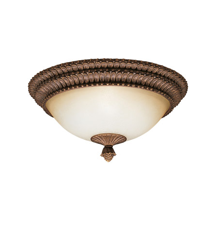 Kichler Lighting Larissa 3 Light Flush Mount in Tannery Bronze w/ Gold Accent 8415TZG photo