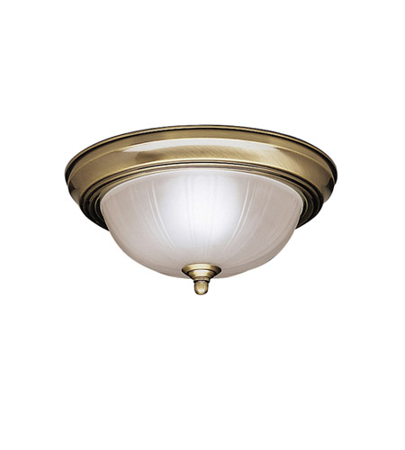 Kichler Lighting Signature 2 Light Flush Mount in Antique Brass 8653AB photo