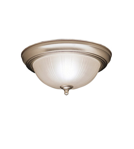 Kichler Lighting Signature 2 Light Flush Mount in Brushed Nickel 8653NI