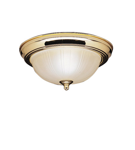 Kichler Lighting Signature 2 Light Flush Mount in Polished Brass 8653PB photo