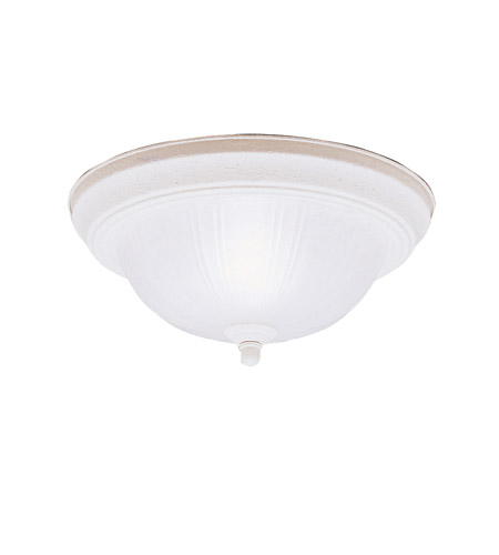 Kichler Lighting Signature 2 Light Flush Mount in Stucco White 8653SC photo