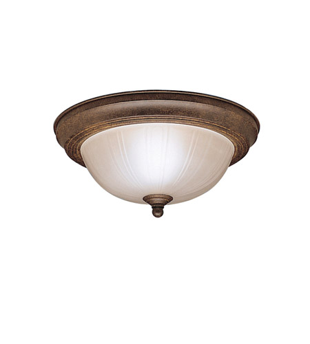 Kichler 8653TZ Signature 2 Light 11 inch Tannery Bronze Flush Mount Ceiling Light photo