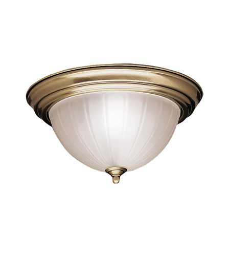Kichler Lighting Signature 2 Light Flush Mount in Antique Brass 8654AB