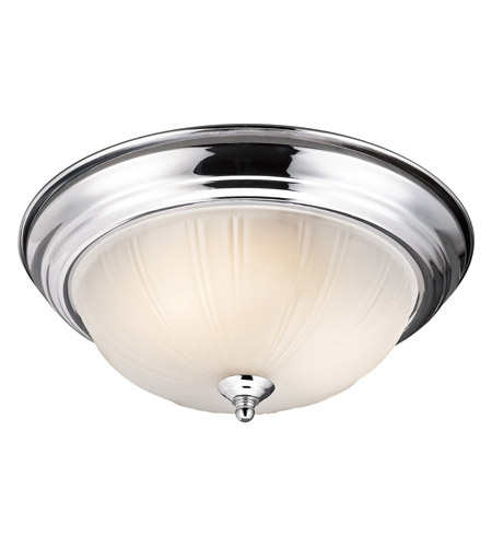 Kichler 8654CH Signature 2 Light 13 inch Chrome Flush Mount Ceiling Light photo