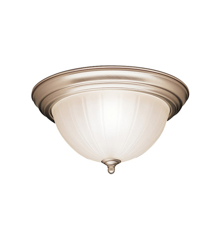 Kichler Lighting Signature 2 Light Flush Mount in Brushed Nickel 8654NI