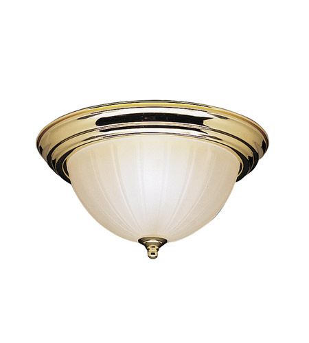 Kichler Lighting Signature 2 Light Flush Mount in Polished Brass 8654PB photo