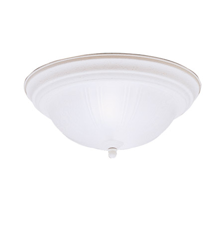 Kichler 8654SC Signature 2 Light 13 inch Stucco White Flush Mount Ceiling Light photo
