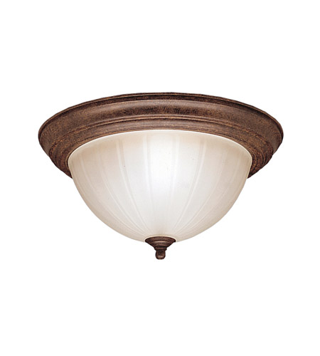 Kichler 8654TZ Signature 2 Light 13 inch Tannery Bronze Flush Mount Ceiling Light photo