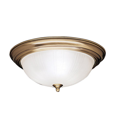 Kichler Lighting Signature 3 Light Flush Mount in Antique Brass 8655AB photo