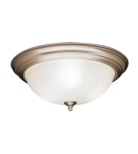 Kichler 8655NI Signature 3 Light 15 inch Brushed Nickel Flush Mount Ceiling Light photo