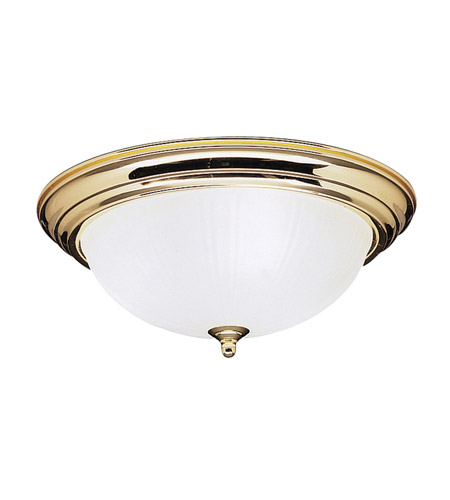 Kichler Lighting Signature 3 Light Flush Mount in Polished Brass 8655PB photo