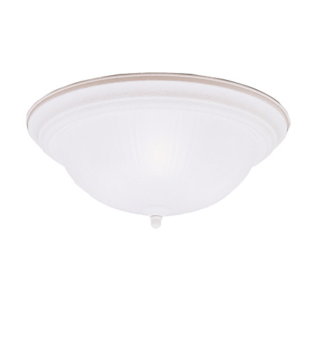 Kichler 8655SC Signature 3 Light 15 inch Stucco White Flush Mount Ceiling Light photo
