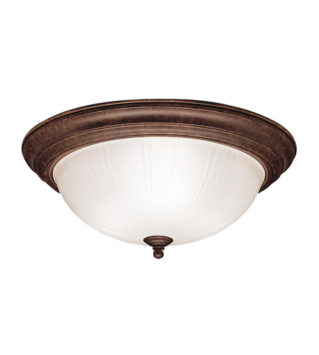 Kichler 8655TZ Signature 3 Light 15 inch Tannery Bronze Flush Mount Ceiling Light photo